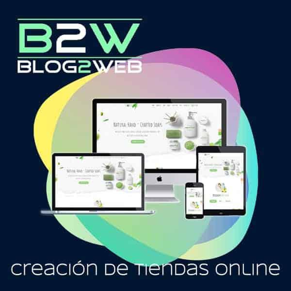 BLOG2WEB - Tu agencia de diseño y creación de tiendas online. Destacada.