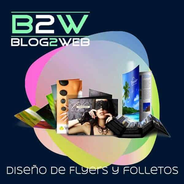 BLOG2WEB - Tu estudio de diseño de folletos y flyers publicitarios. Imagen destacada.