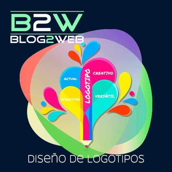 BLOG2WEB - Tu estudio para el diseño del logotipo de empresa. Destacada.