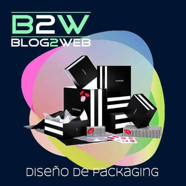 BLOG2WEB - Diseño de packaging. Imagen destacada.