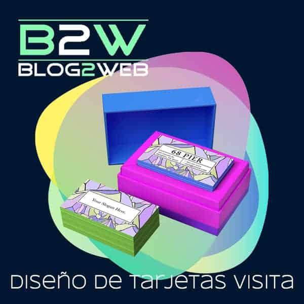 BLOG2WEB - Estudio de diseño de tarjetas de visita - Vcard. Imagen destacada.